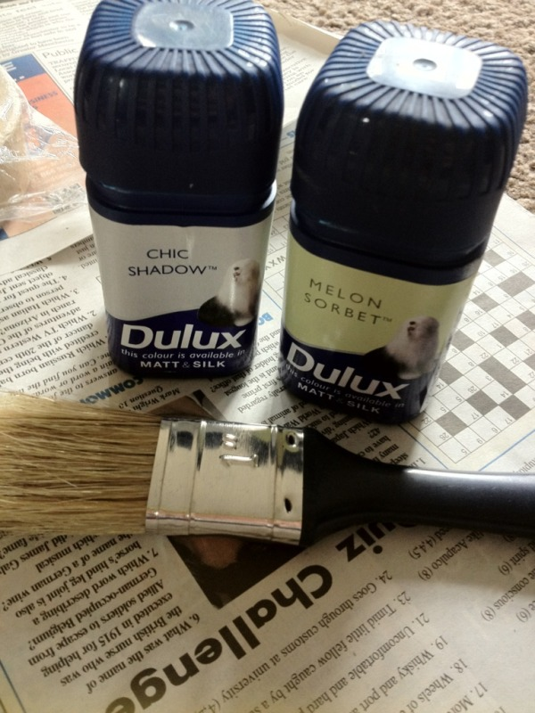 Recycle Dulux tester pots