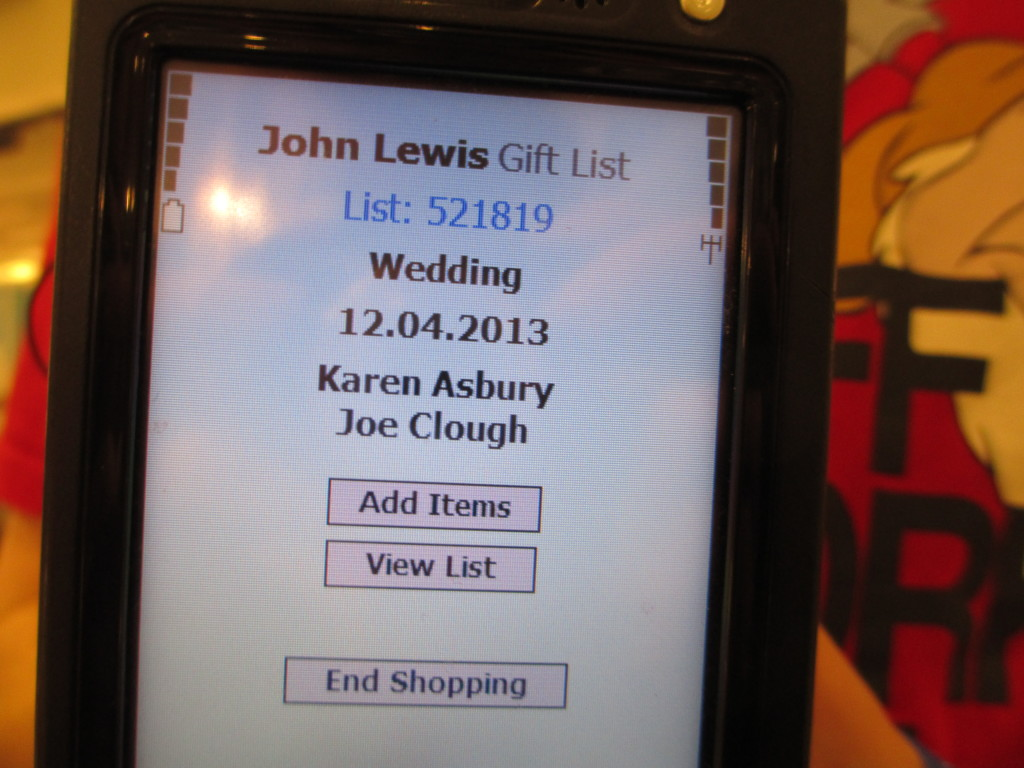 Our wedding gift list - WELL I GUESS THIS IS GROWING UP