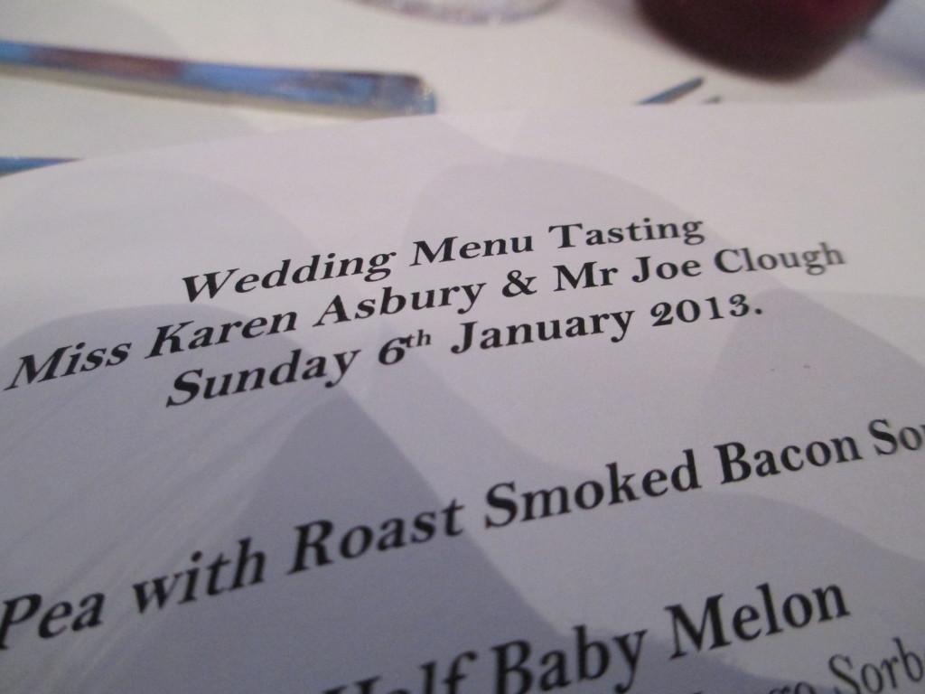 Wedding menu taster