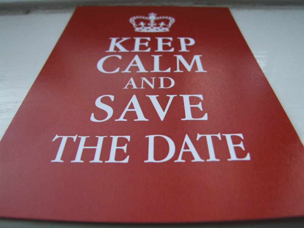 Paper Theme Save The Date