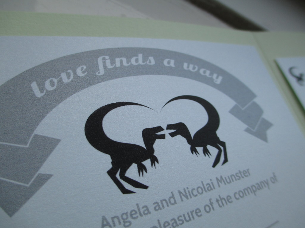 My DIY Dino Wedding: Wedding Invitations