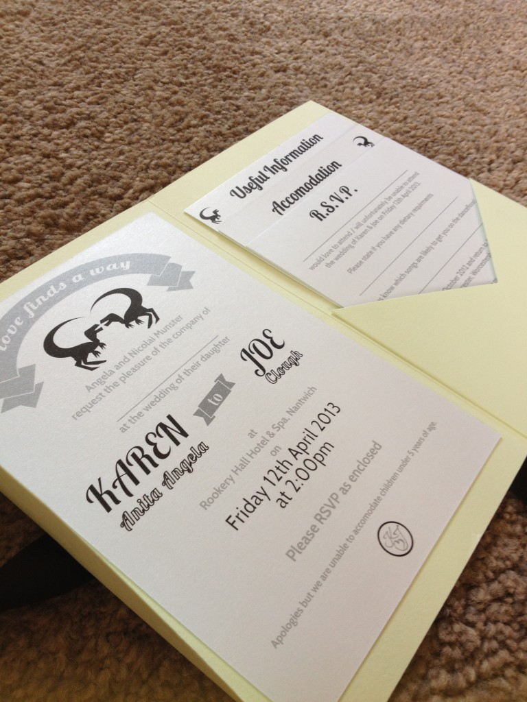 My DIY Dino Wedding: Wedding Invitations - WELL I GUESS THIS IS GROWING UP