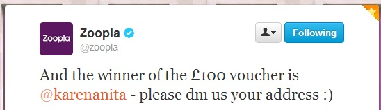 zoopla competition winner