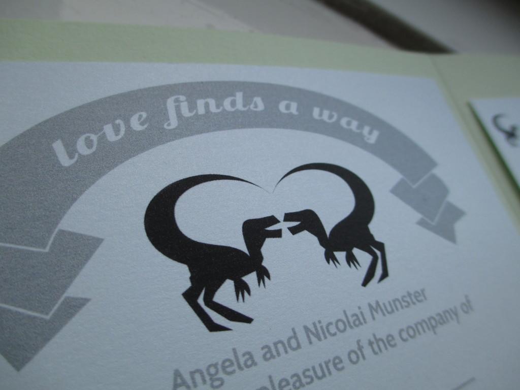 Dinosaur Wedding Invitations: Jurassic Heart: Why We Chose Dinosaurs As Our Wedding