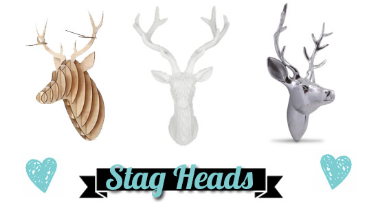 Wishlist Wednesday – Wall Stag Heads