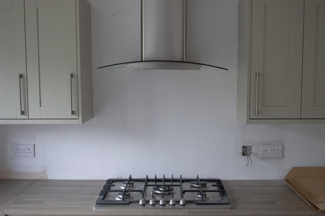 Worktop cooker extractor