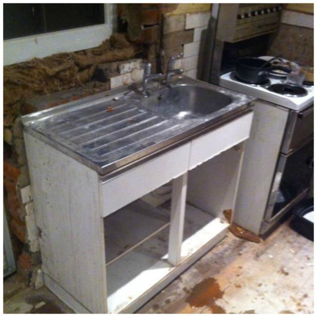 Old Kitchen Sink Kitchen update demolishing our decrepit old sink well i guess old kitchen sink workwithnaturefo
