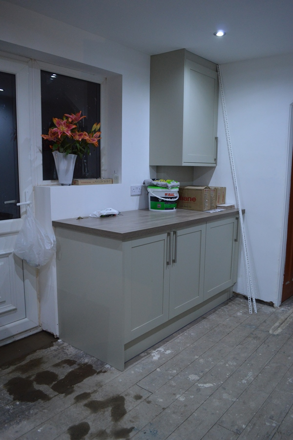 The final corner of the kitchen well i guess this is for Howdens kitchen units sizes