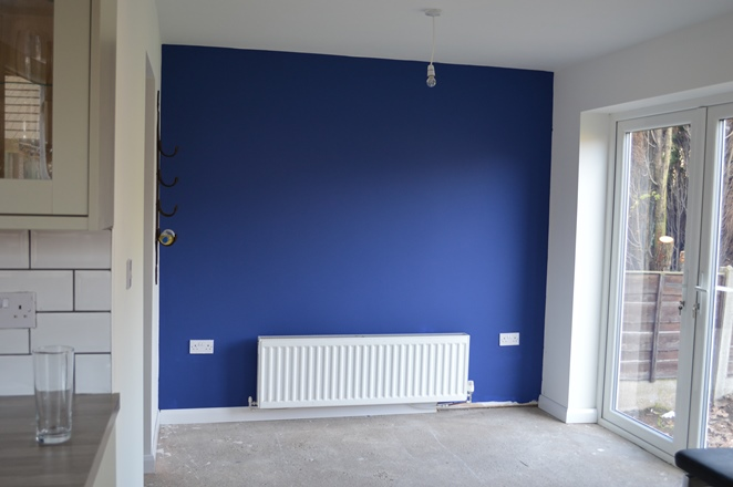 The Smalt Blue Kitchen Wall