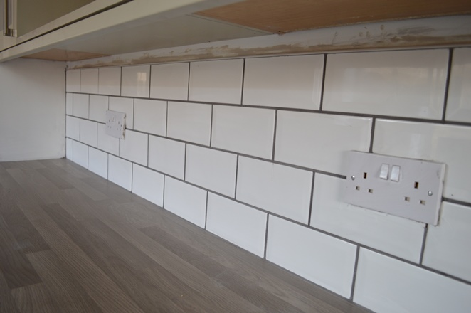 Dark Grey Subway Tile Backsplash DIY Kitchen Tiles, Knives & Embarrassing Headwear – WELL I ...