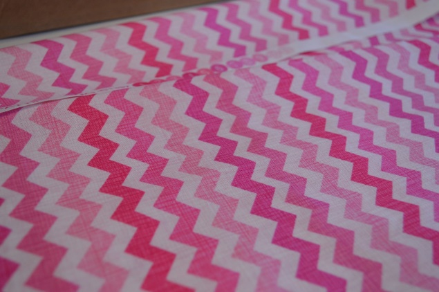 DIY nursery chevron lampshade 02