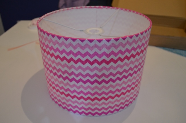 DIY nursery chevron lampshade 13