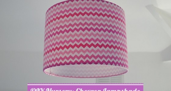 DIY nursery chevron lampshade