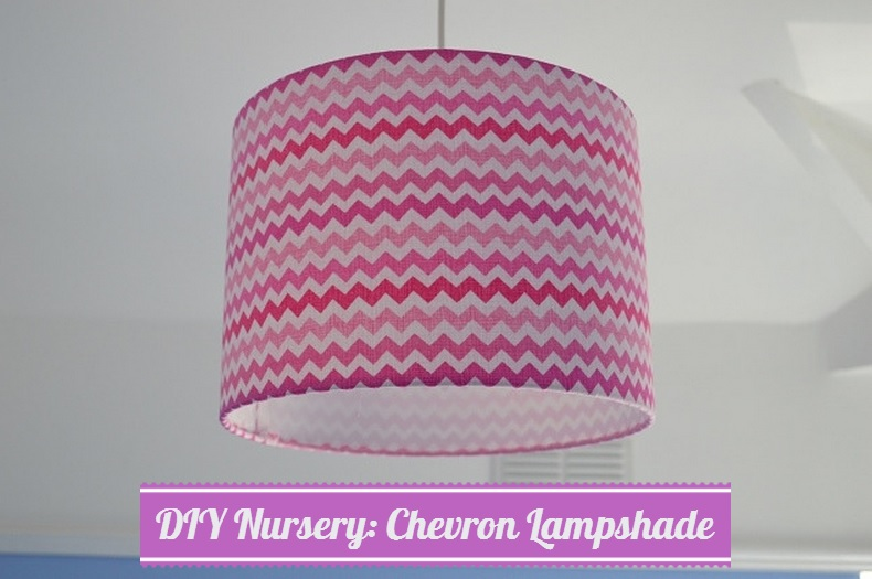 DIY Chevron Lampshade for the Nursery