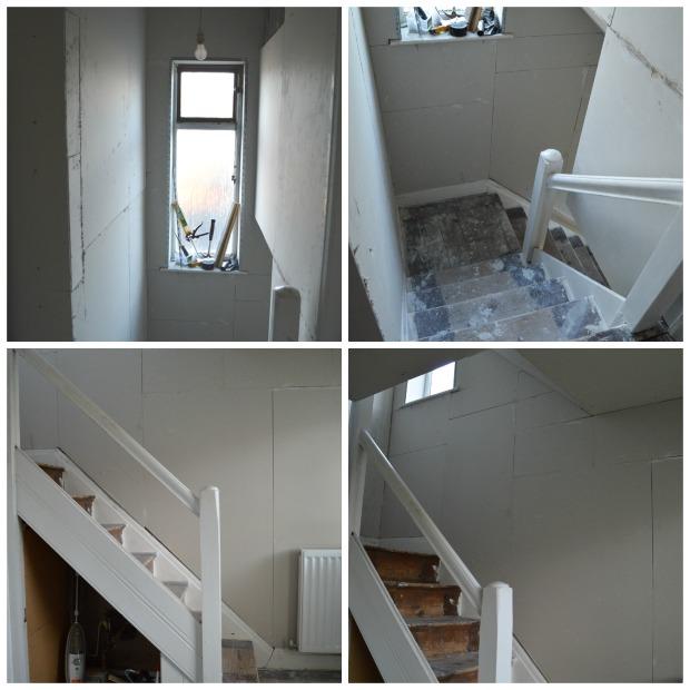 hallway finally. hallway plastering finally r