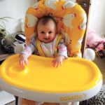 Luna flippin' loves her new highchair. Let the weaning begin!