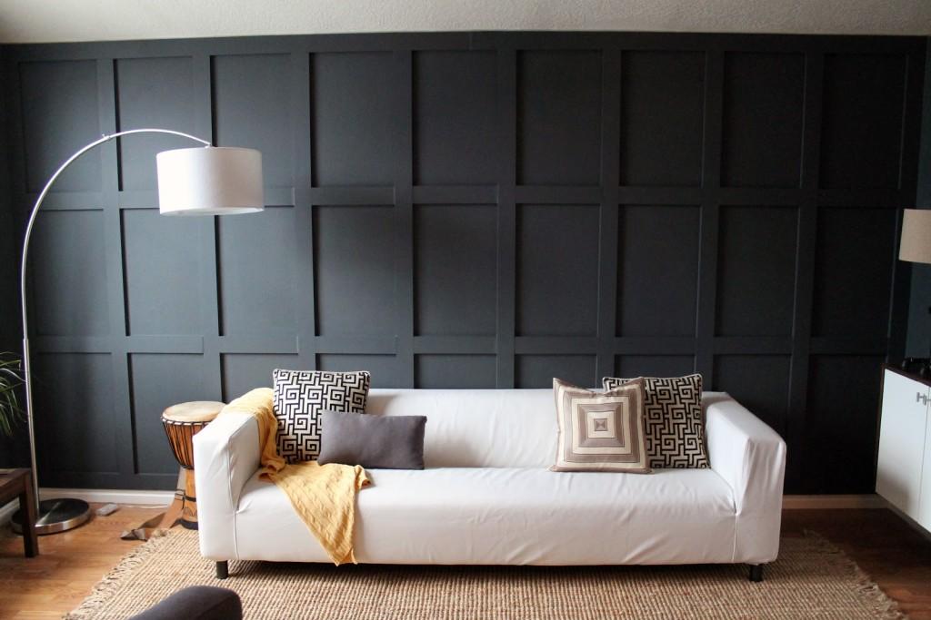 Black woodd panel