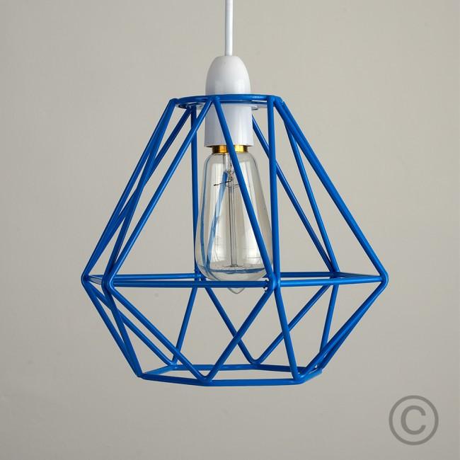 blue cage pendant