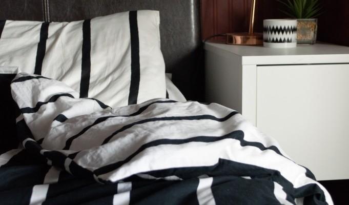 stripey bedding