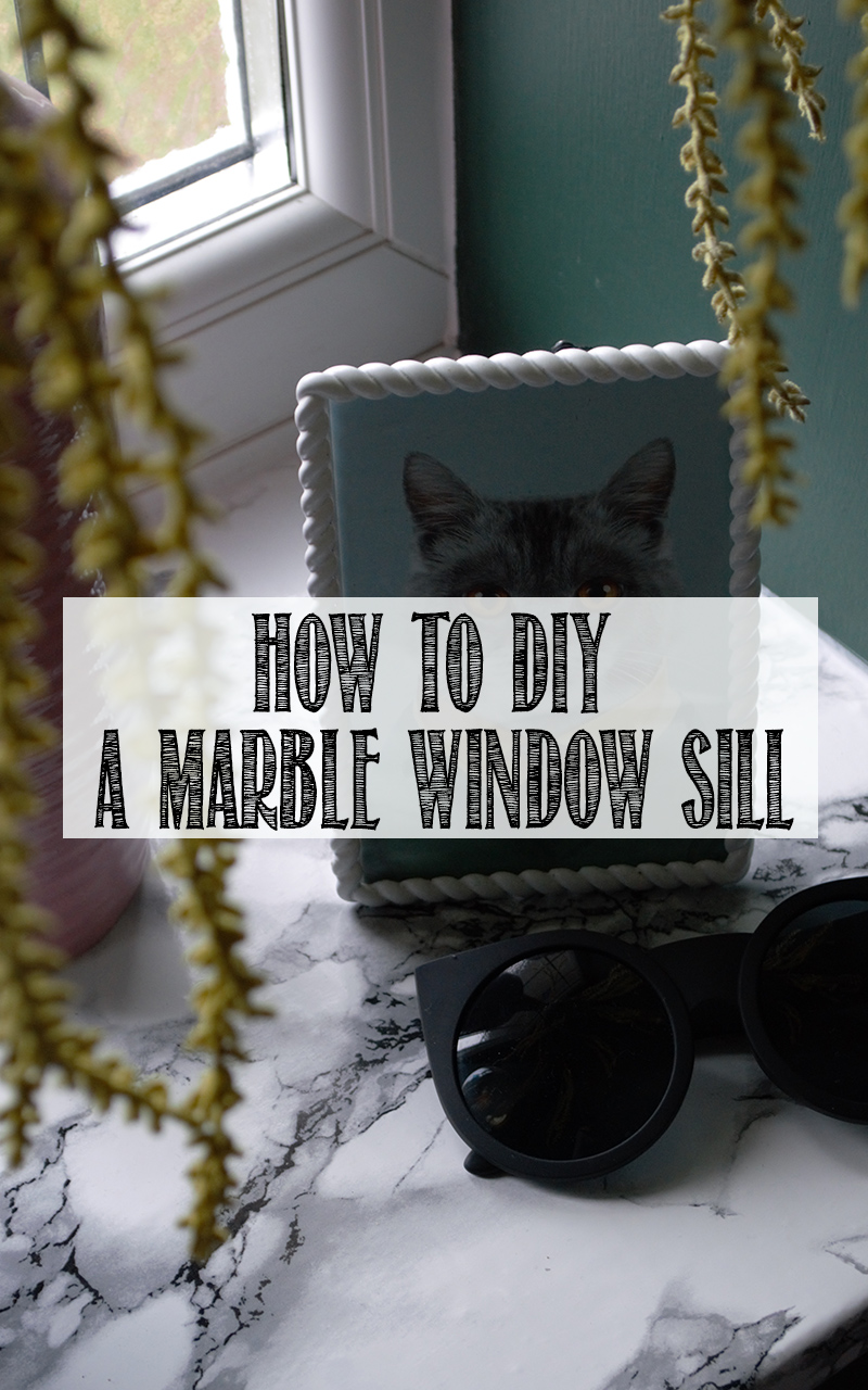 DIY marble window sill