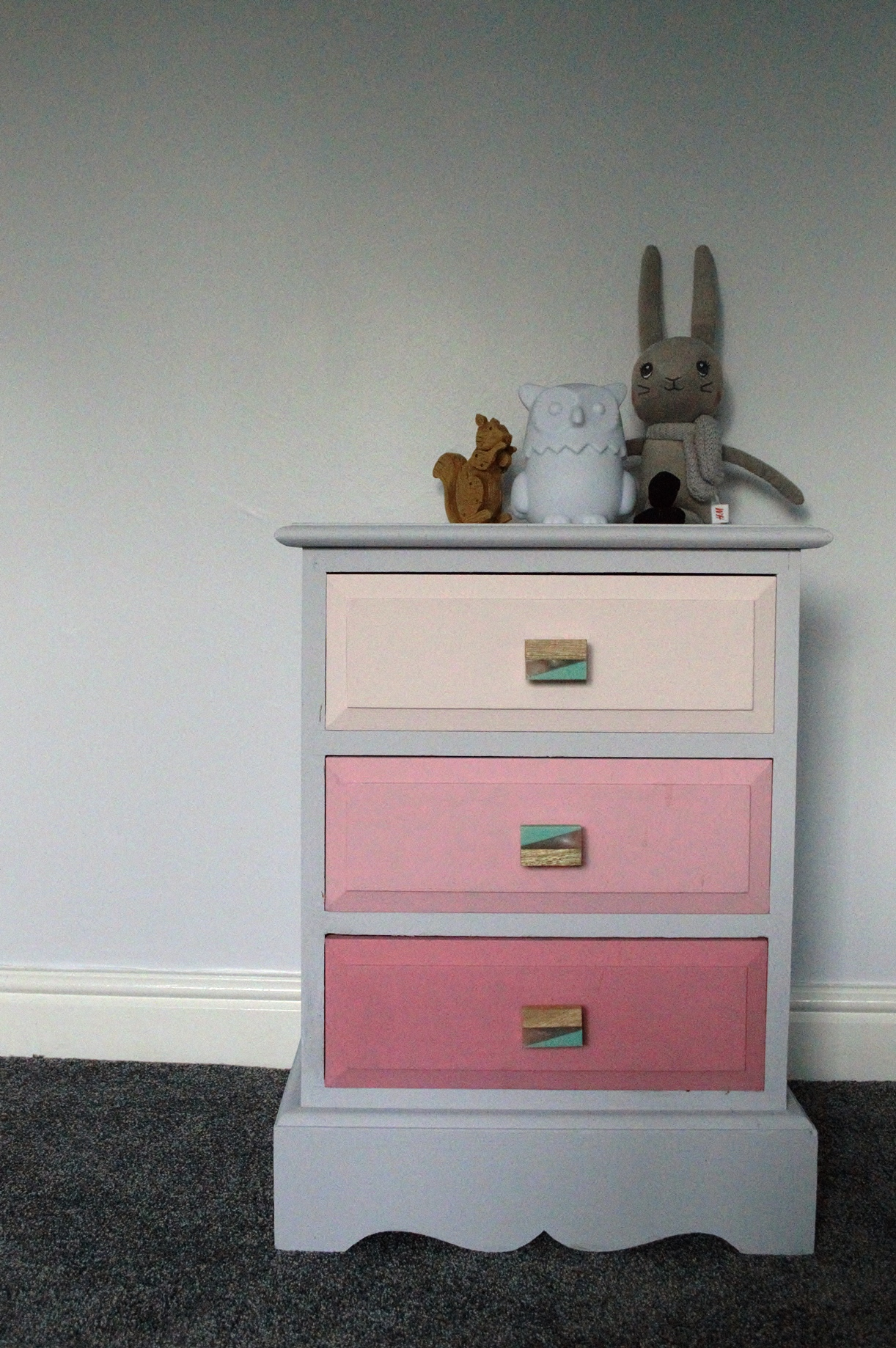 Pink Ombre Chest of Drawers