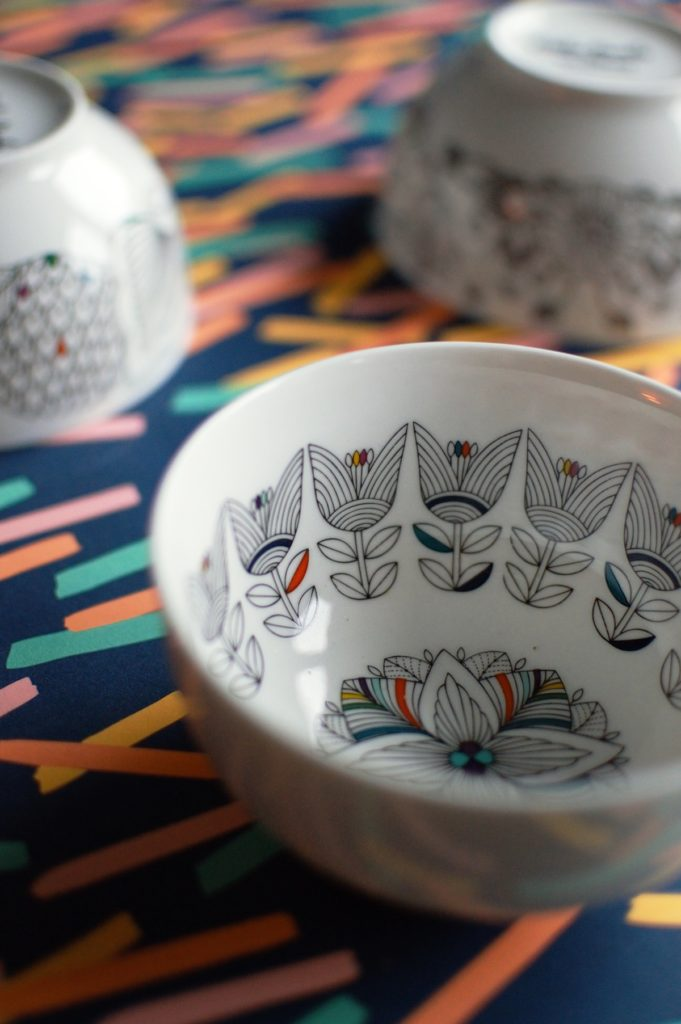 Dinnerware you'll want to colour in