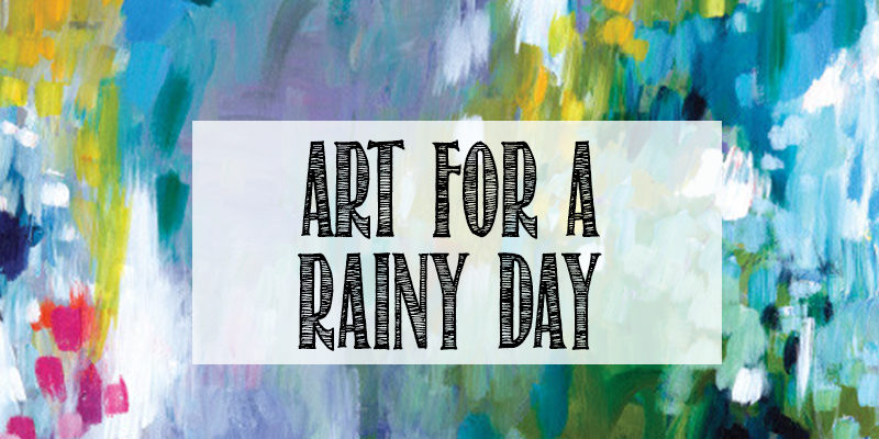 Rainy day art from Wayfair