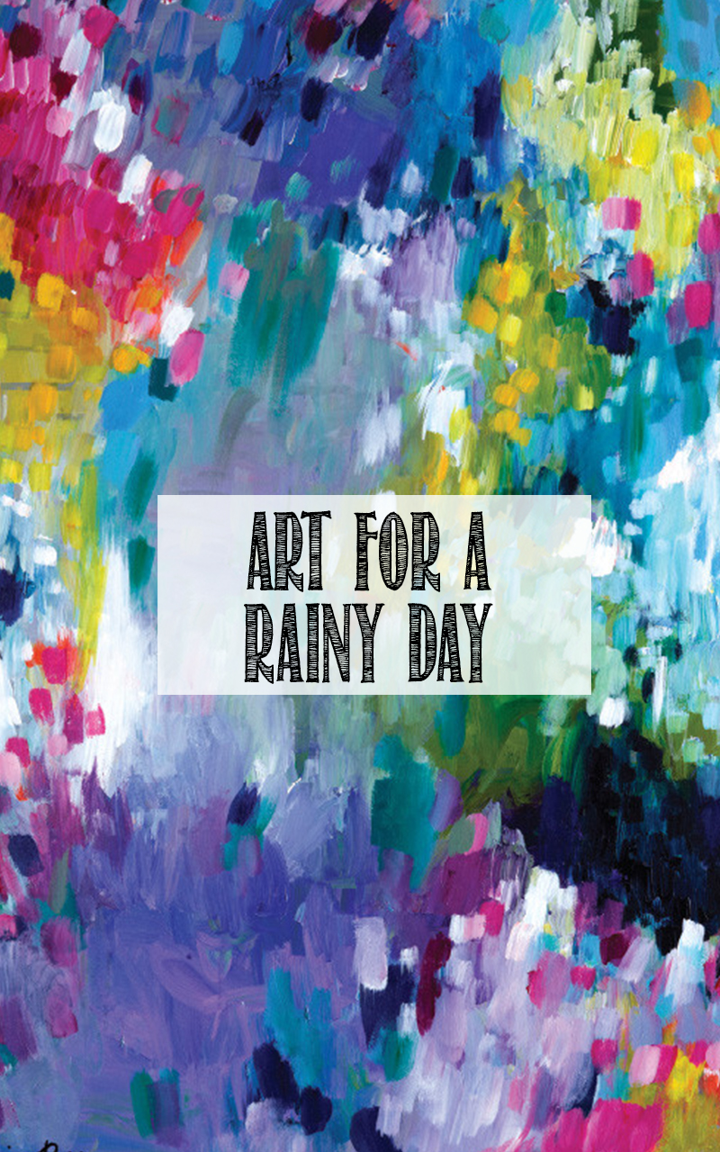 Rainy day art from Wayfair