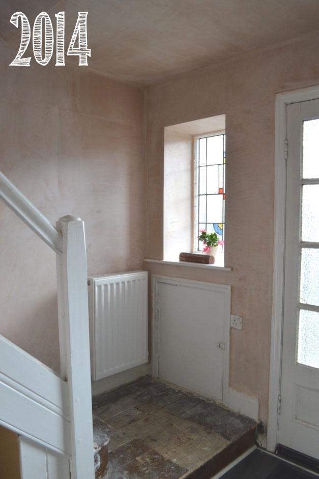 plastered hallway