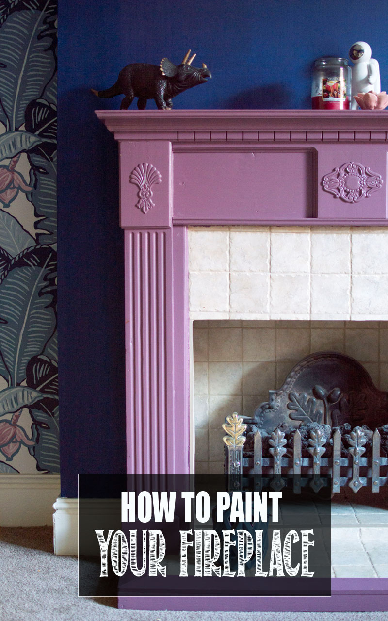 How to Paint a Fireplace Surround - WELL I GUESS THIS IS
