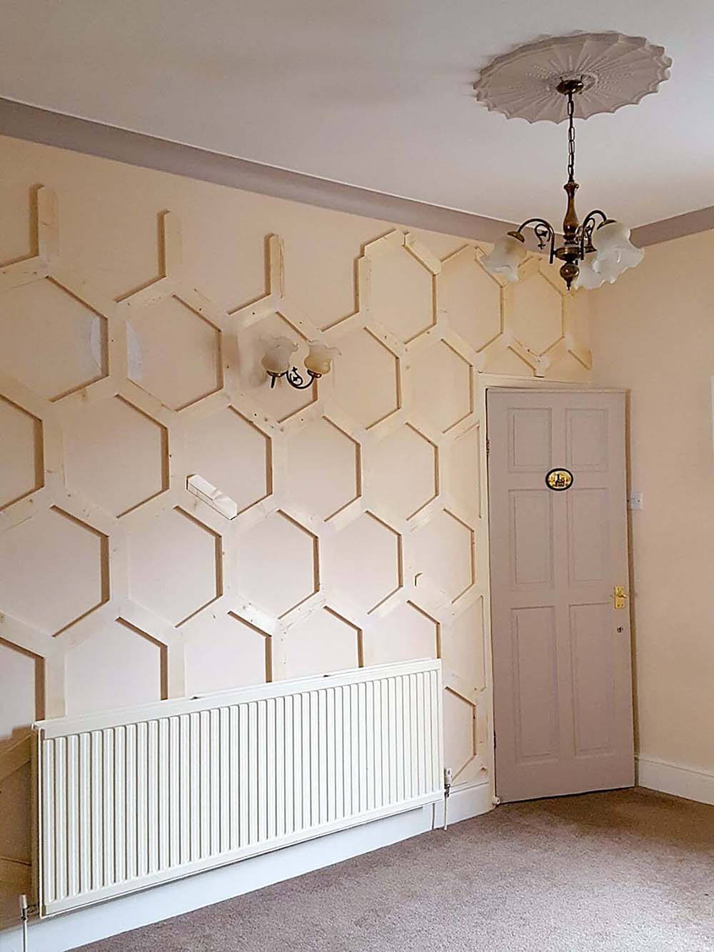 How to DIY a Hex Panelled Wall - WELL I GUESS THIS IS ...