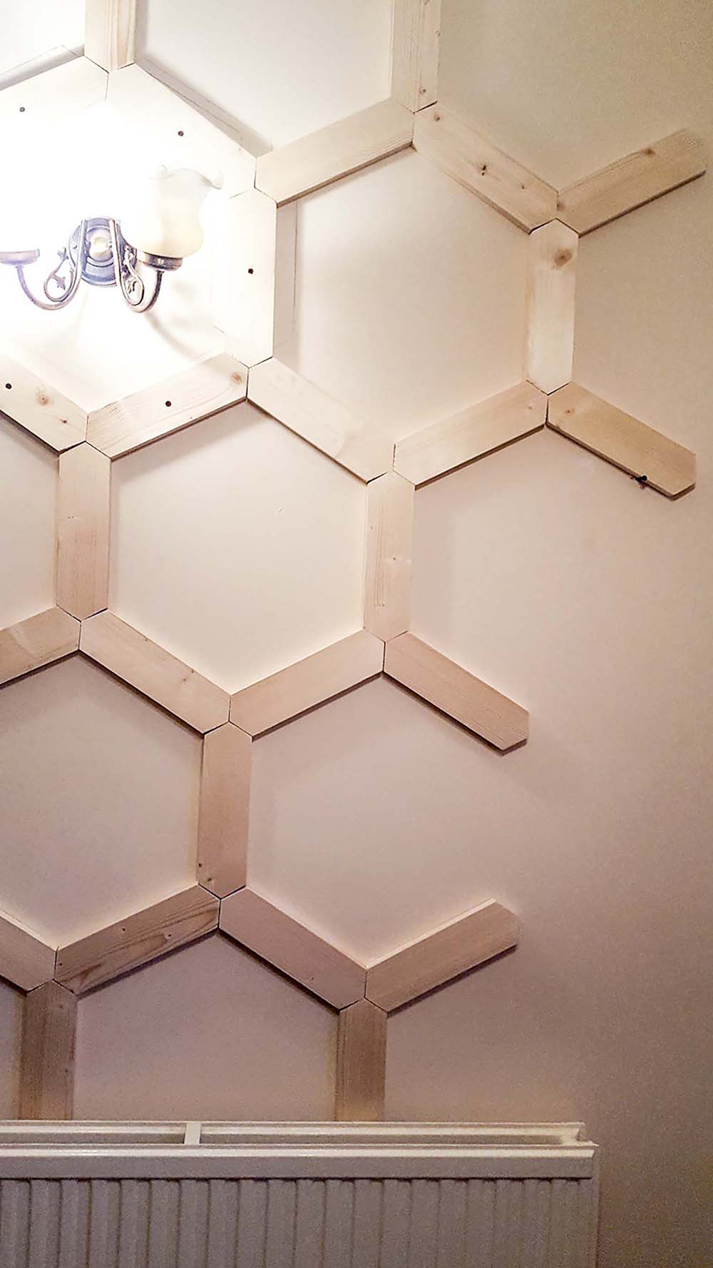 How To Diy A Hex Panelled Wall Well I Guess This Is Growing Up